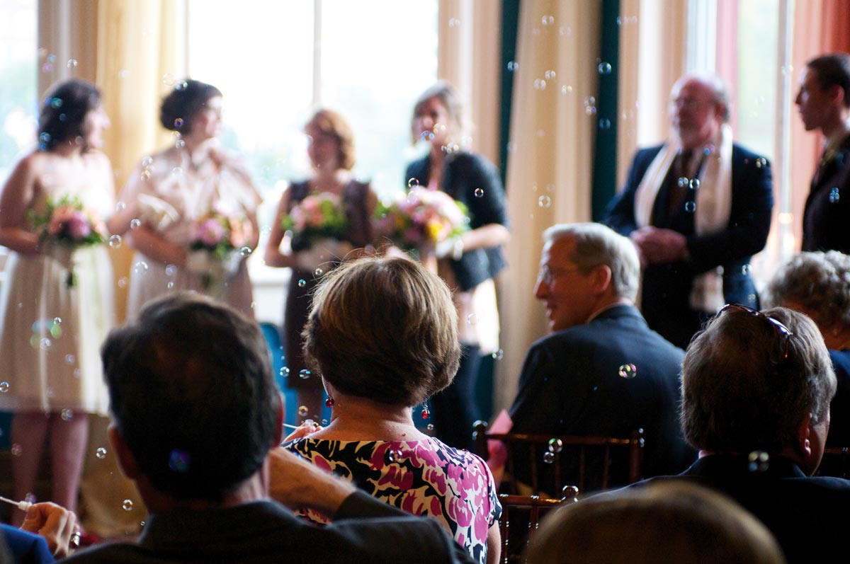 Laura and Tom's wedding ceremony