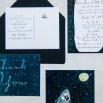 Laura and Matt custom wedding stationery by Elizabeth Graeber of Jolly Edition