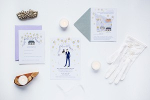 Emily and Michael Custom Wedding Stationery by Emma Block and Jolly Edition