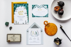 Judith and Steve's Custom Wedding Stationery Project by Katie Wilson of Jolly Edition