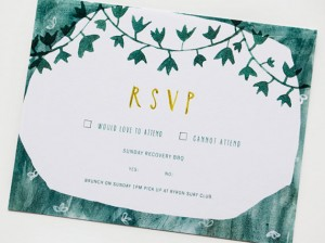 Judith and Steve's RSVP by Katie Wilson of Jolly Edition