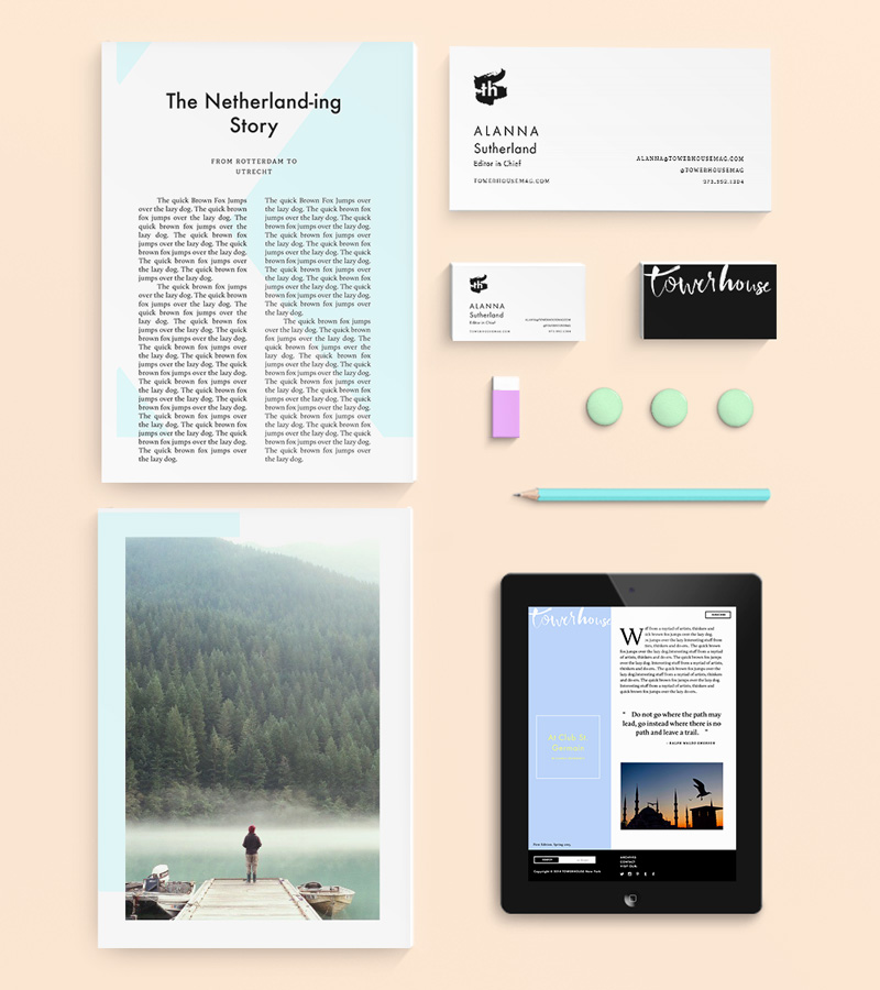 Towerhouse Magazine Brand and Identity by Jolly Edition