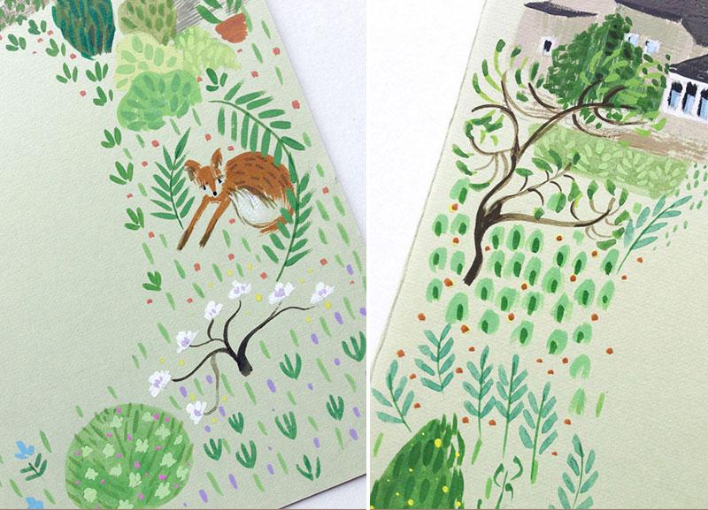 jolly edition illustration tree fox