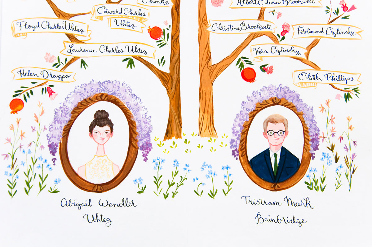 Pomegranate Family Tree Jolly Edition Illustration And