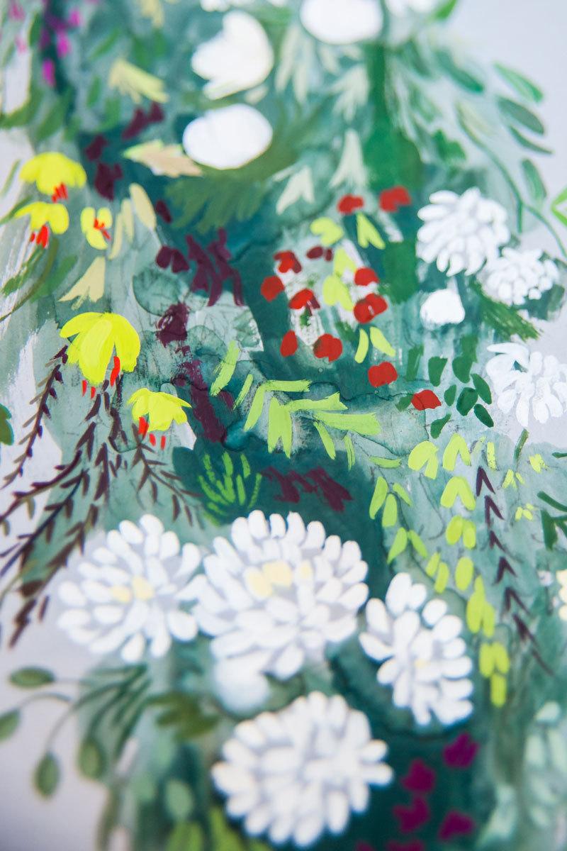 laura shema garland detail painting