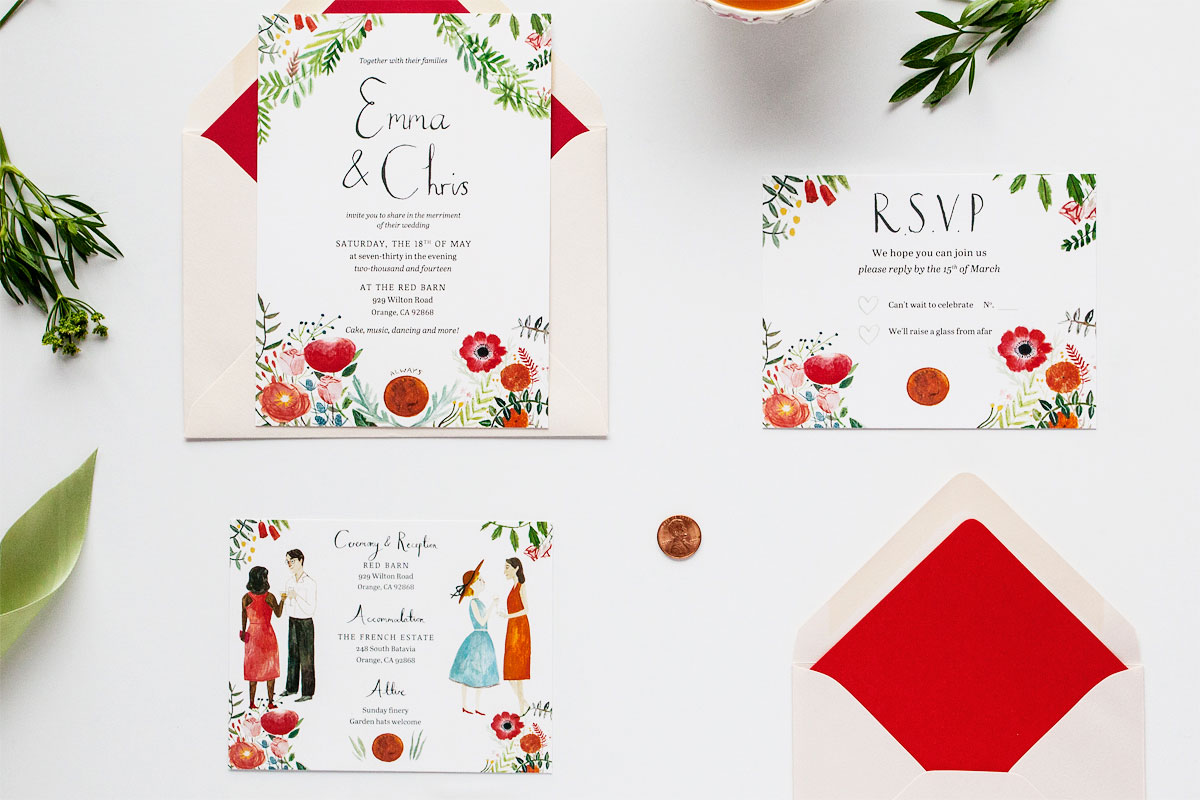 Garden Party Jolly Edition – Garden Party Wedding Invitations