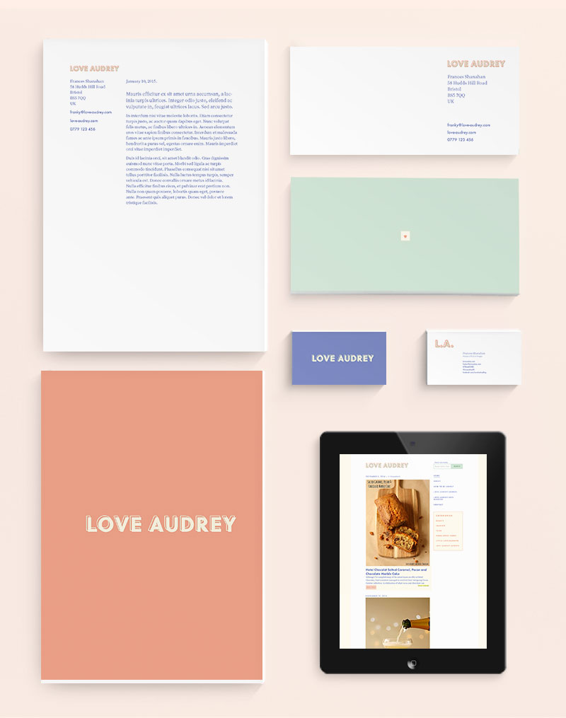 Love Audrey indentity by Jolly Edition