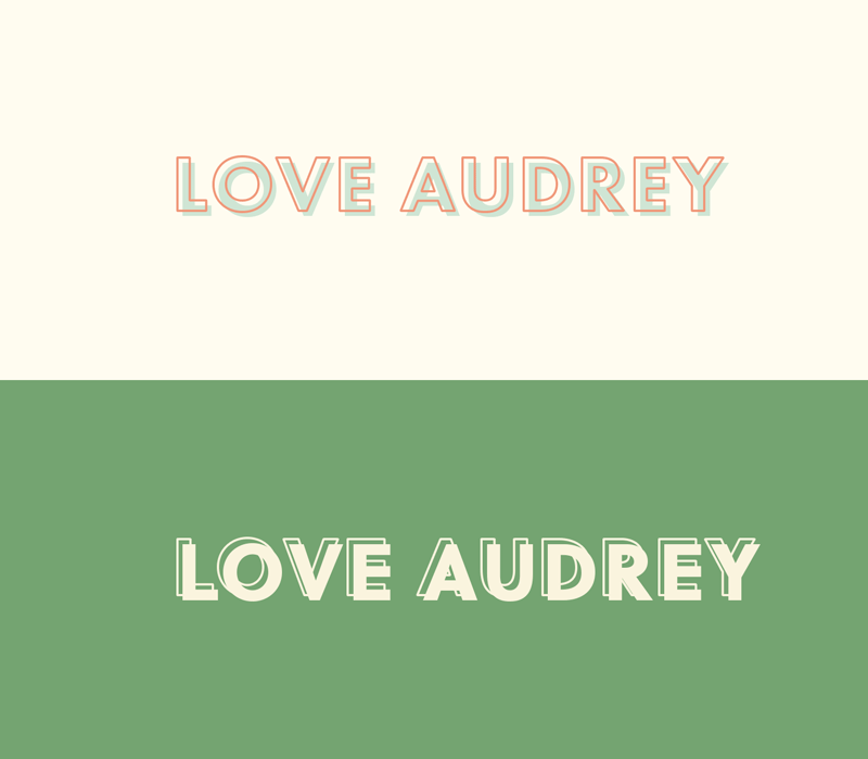Love Audrey Logo by Jolly Edition