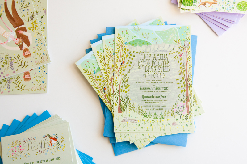 Lucy and Bryn wedding invite