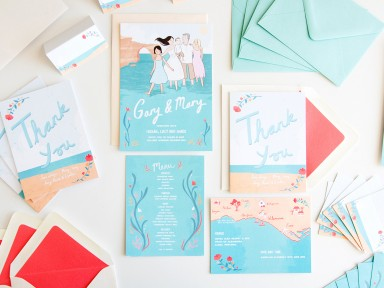 Emmeline Pidgen's wedding stationery