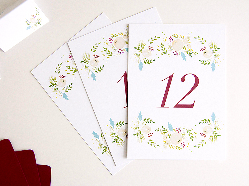 succulent ivory table numbers
