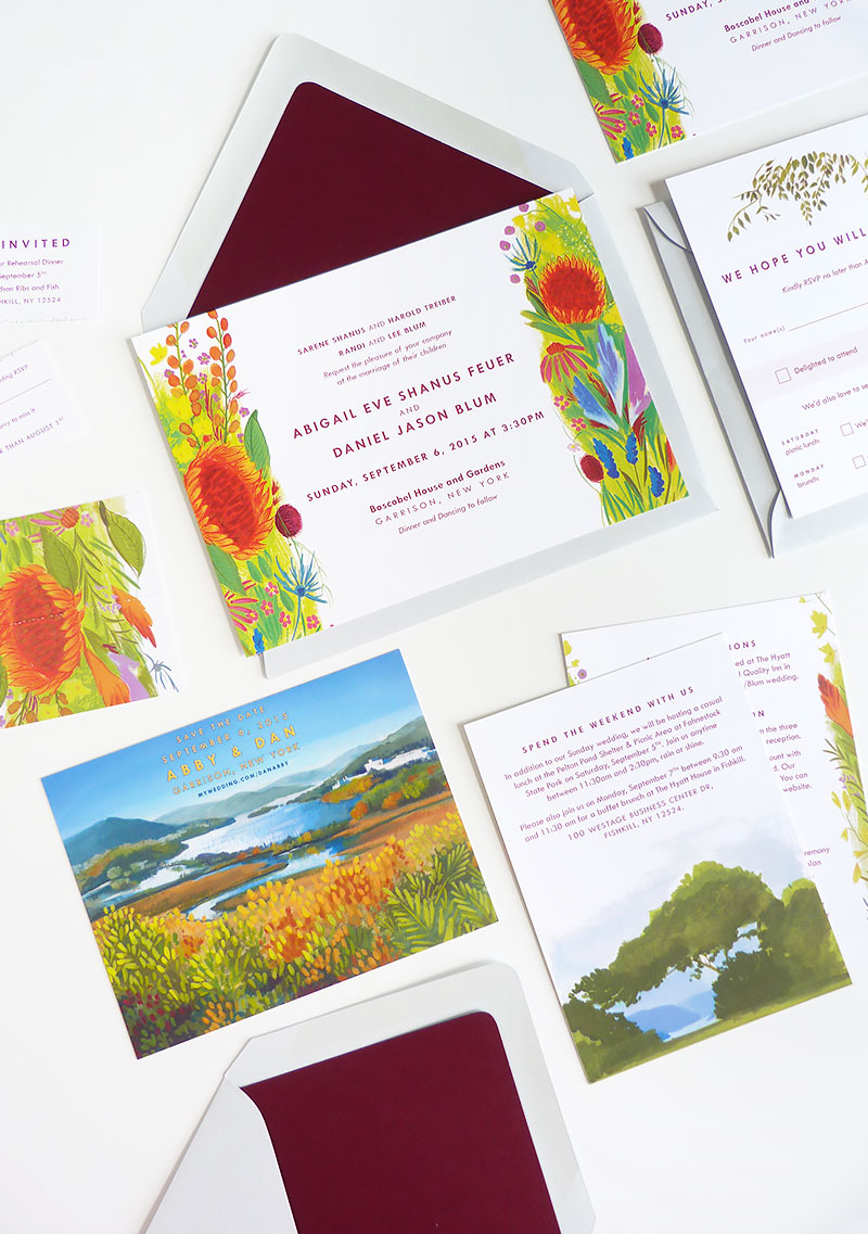 Jolly Edition, Adirondack custom wedding stationery