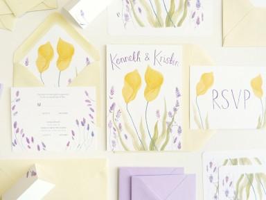 katie harnett illustrated custom wedding stationery
