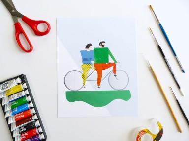 Natalie Adkins illustrated print