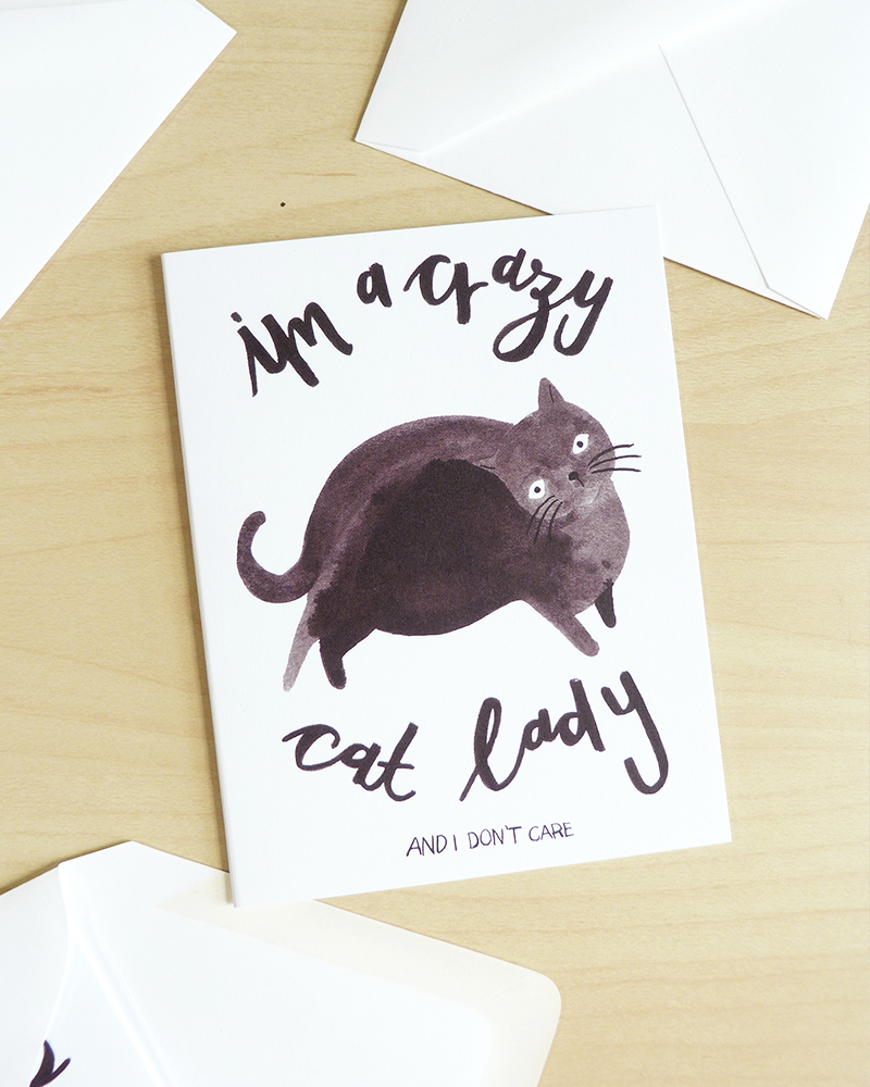 Crazy Cat Lady Cards Jolly Edition Illustration And Stationery