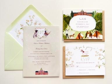 Jolly Edition custom wedding stationery illustrated by Katie Harnett