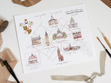 jolly edition illustrated Annapolis Maryland map illustrated by Laura Shema