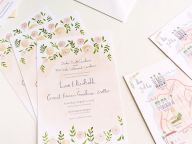 jolly edition wedding stationery monogram illustrated by Emma Block