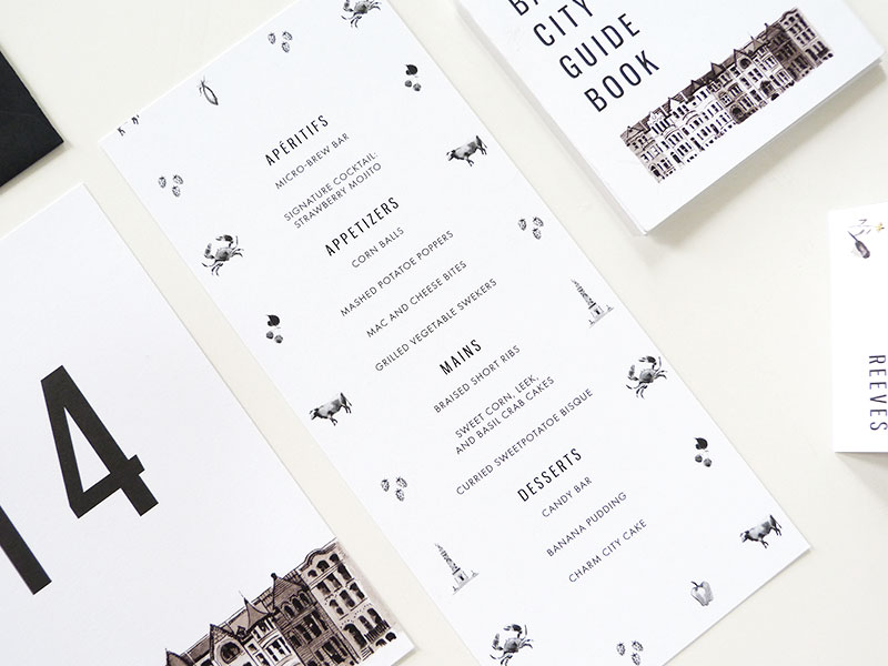 Jolly Edition Baltimore wedding stationery by Laura Shema