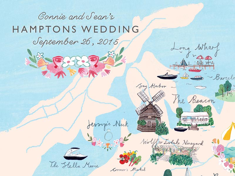 Connie & Sean Custom Map by Jolly Edition and Mia Dunton
