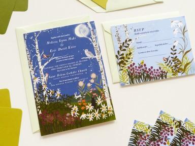 Jolly Edition custom wedding stationery illustrated by Joy LaForme