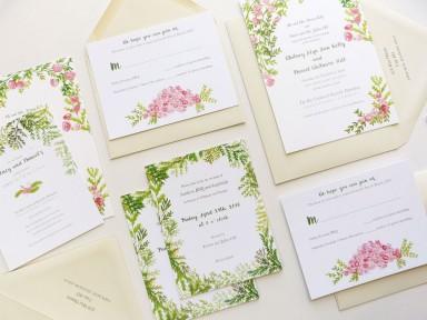 Jolly Edition custom wedding stationery illustrated by Katie Wilson