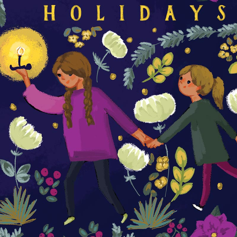 Ann's holiday custom holiday card design by Jolly Edition