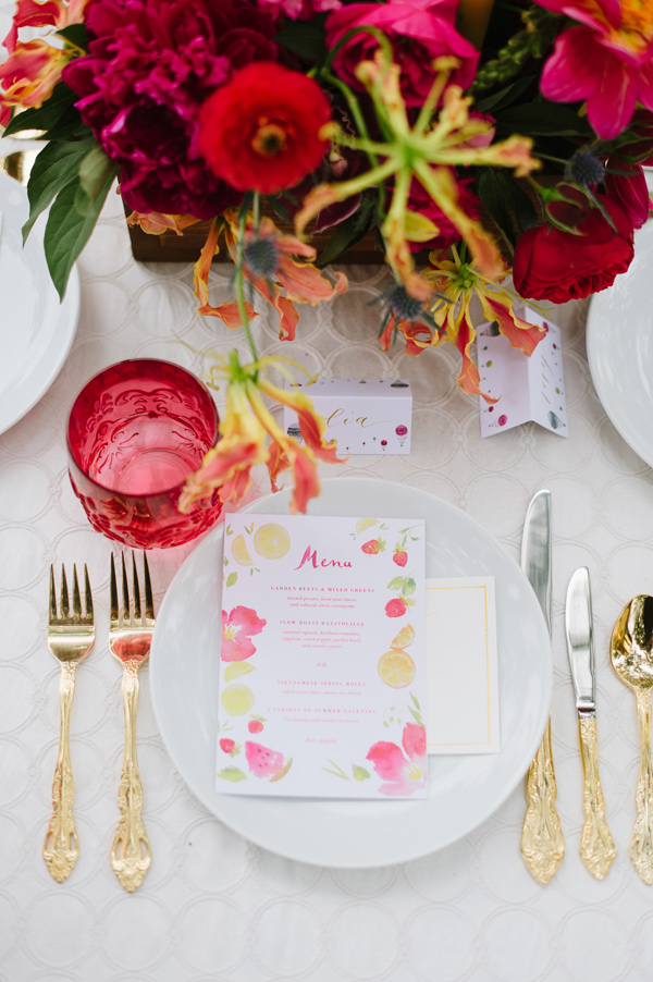 Jolly Edition Menu - Ruffled - photo by Natalie Franke http://ruffledblog.com/vintage-hot-air-balloon-wedding