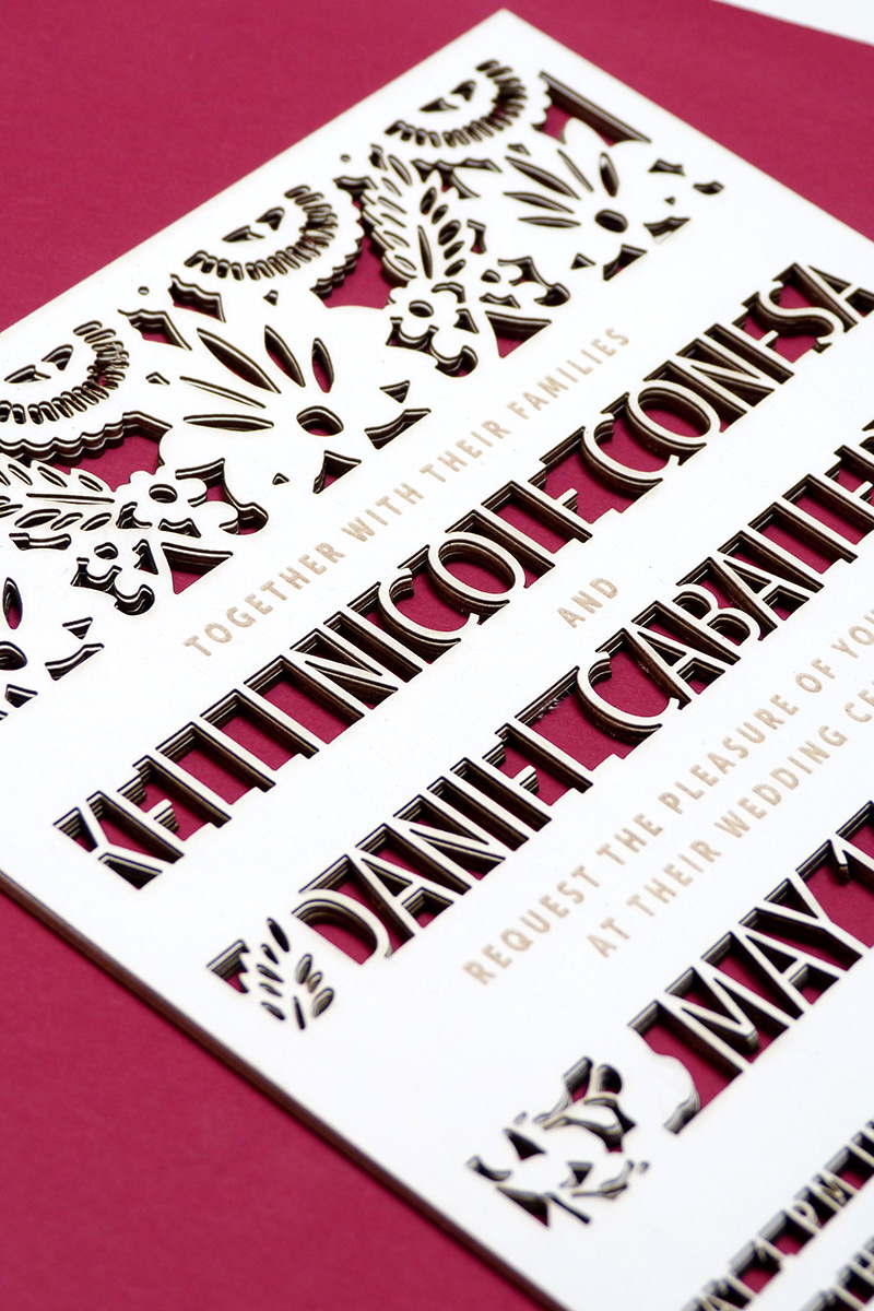 mexican cut out wedding invitations illustrated by Laura Shema for ...