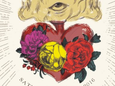 sacred heart save the date illustrated by Laura Shema for Jolly Edition