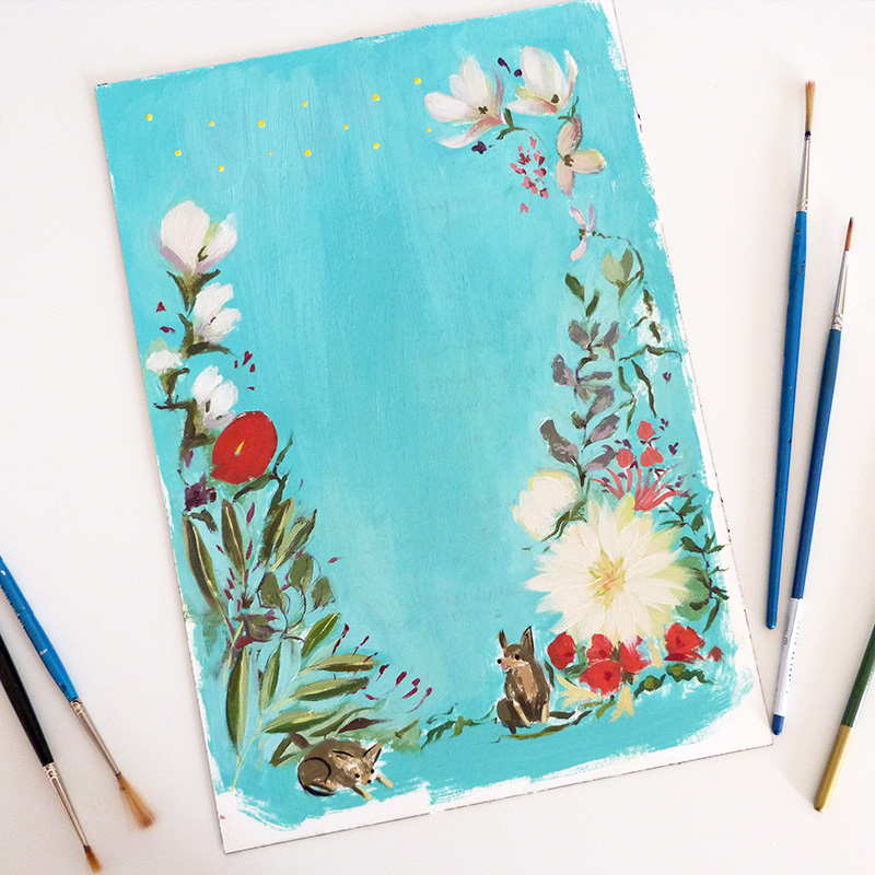 Jolly Edition April Blog Posts - teal painting