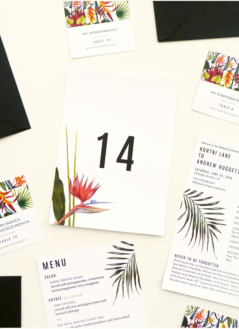 new york tropical invitations illustrated by Laura Shema for @Jolly Edition