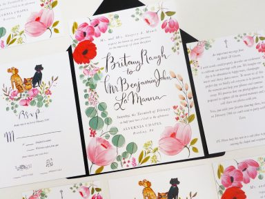 Taylor Swift bestie, britany maack wedding invitation illustrated by Laura Shema for Jolly Edition