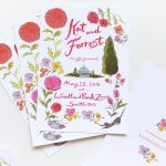 woodland park zoo. fun garden party wedding invitation illustrated by Laura Shema for Jolly Edition