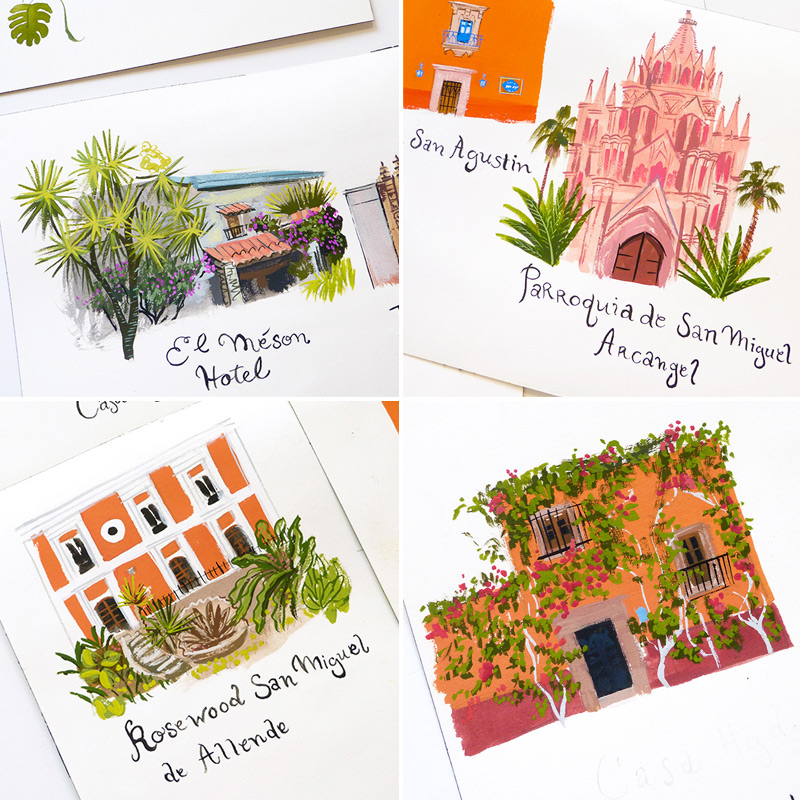 May 2016 Blog Post. San MIguel map. illustrated by Laura Shema for Jolly Edition.