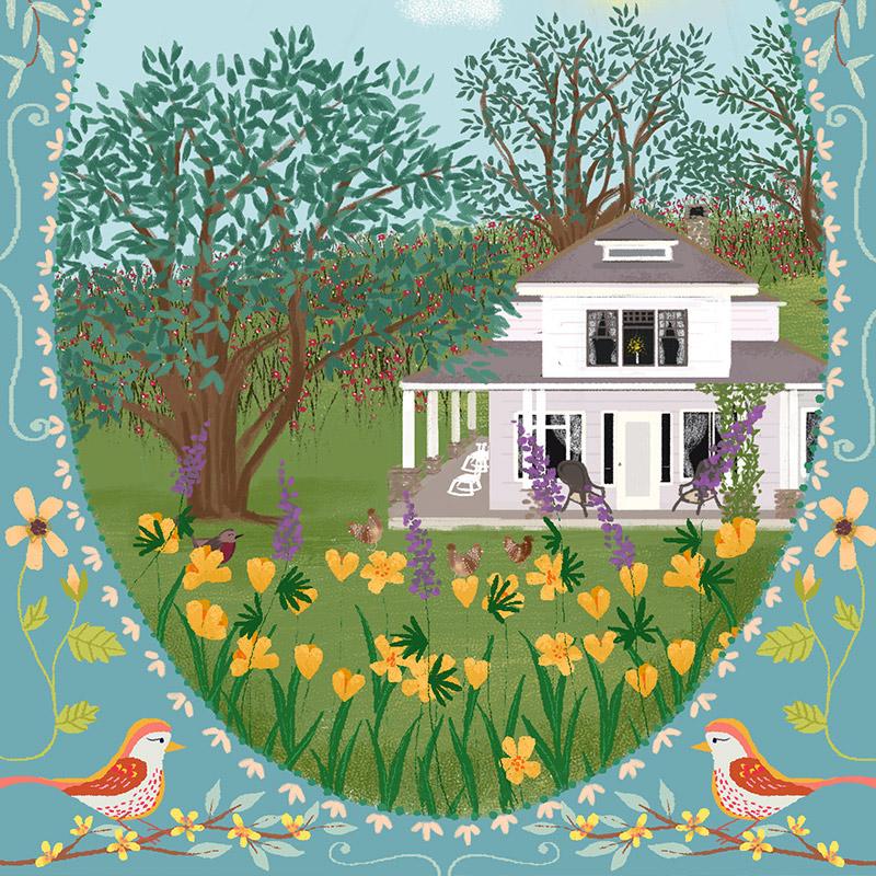 May 2016 Blog Post. Custom wedding invitation illustrated by Joy LaForme for Jolly Edition
