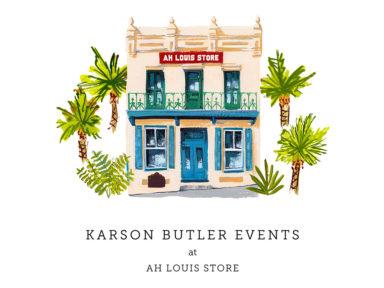 Karson Butler at AH Louis Store logo