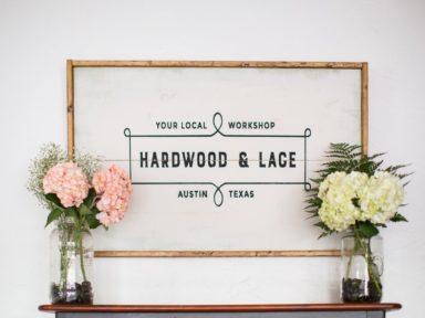 Hardwood & Lace logo designed by Jolly Edition