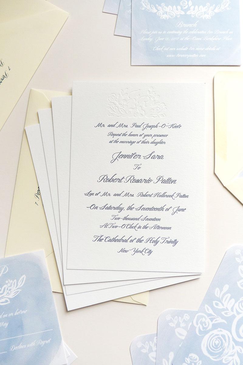 jolly edition jennifer and rob wedding stationery