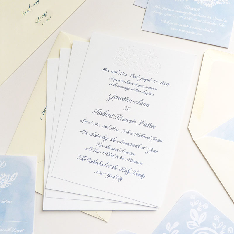 Jolly Edition Blog Post Mar 17 Airy letterpress invitation suite