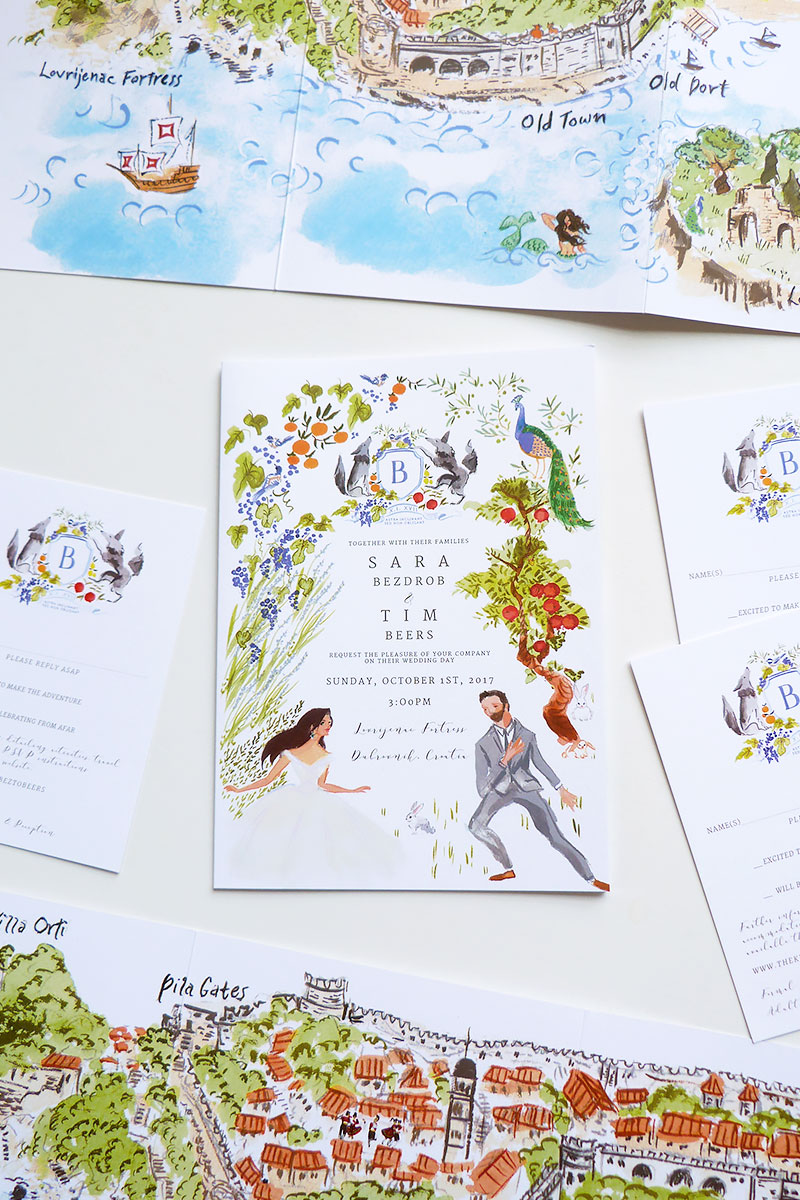 Jolly Edition Blog Post July 2017 fairy-tale illustrated wedding invitation