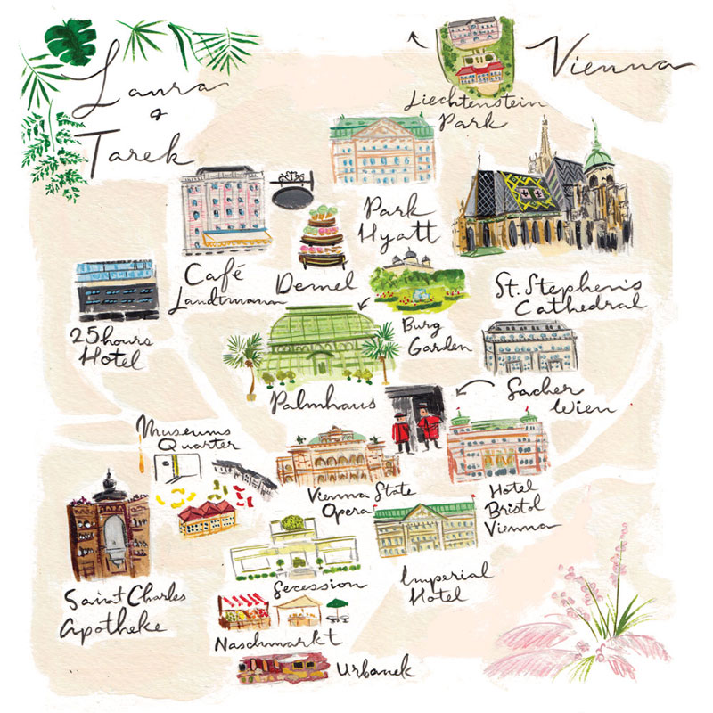 Jolly Edition Blog Post August 2017 Custom Vienna map for Laura and Tarek's European wedding