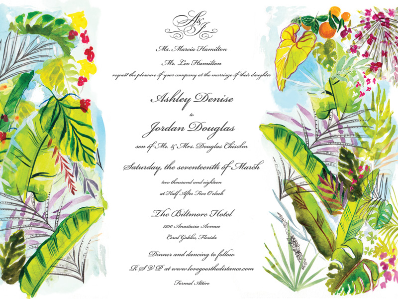Jolly Edition Blog Post November 2017 tropical panel script invitation