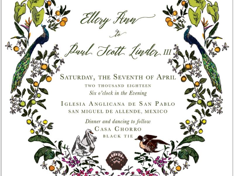 Jolly Edition Blog Post November 2017 intricate floral invitation frame