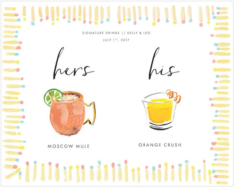 Jolly Edition Blog Post October 2017 his and hers cocktail illustrated poster