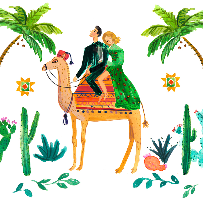 Jolly Edition Blog Post February 2018 custom illustrated Moroccan wedding illustrations