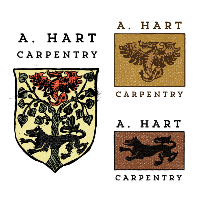 carpenter logo medieval