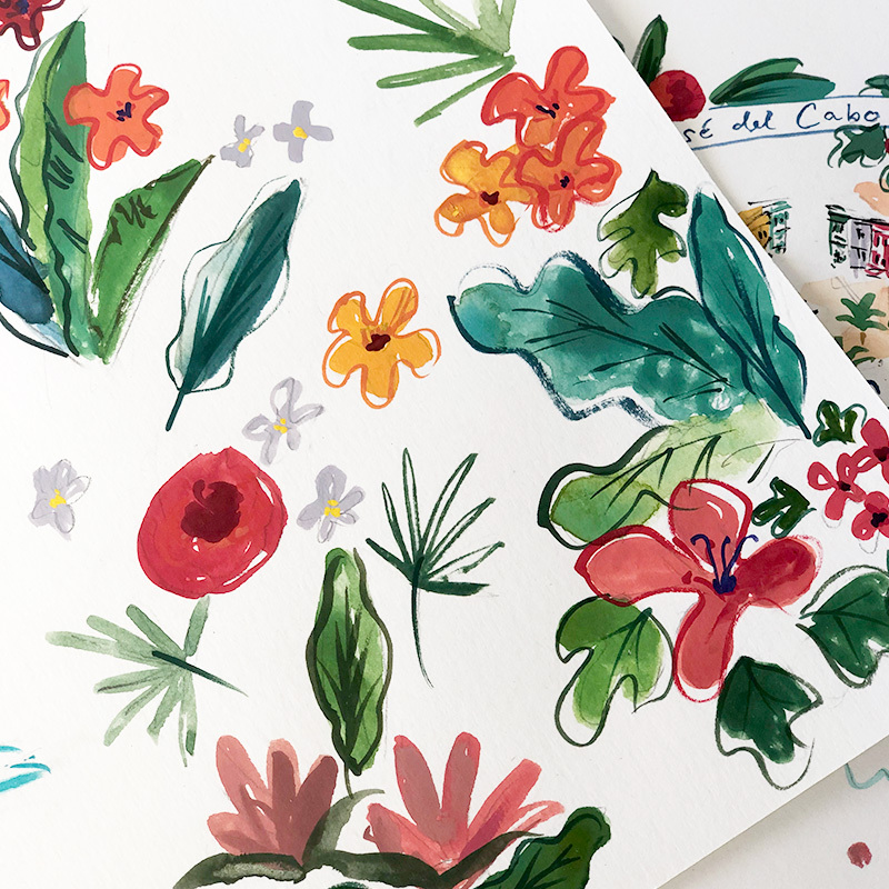 tropical artwork for wedding stationery jolly edition