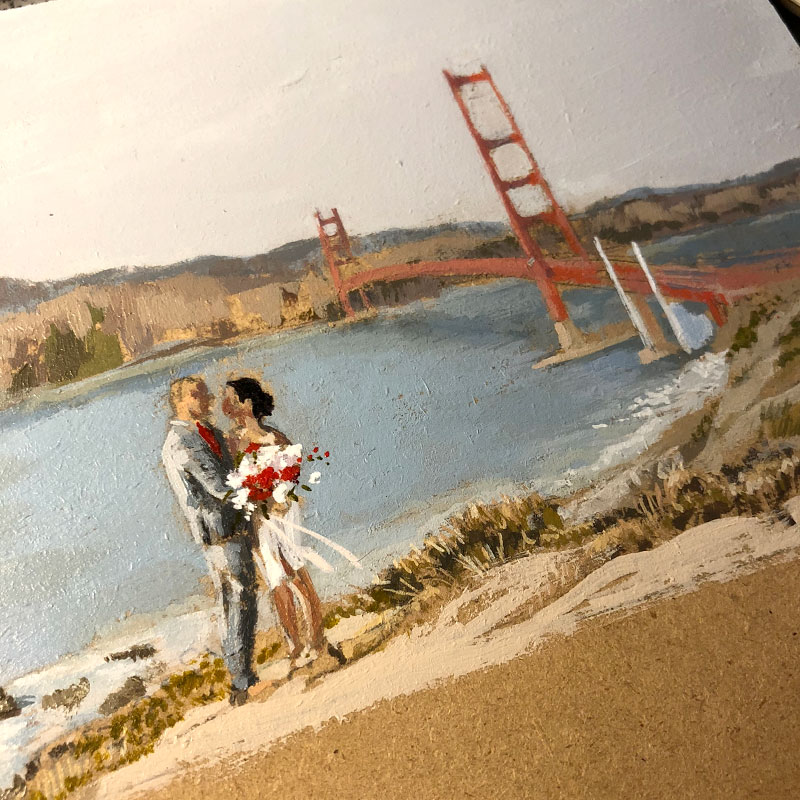 San Francisco wedding save the date postcard