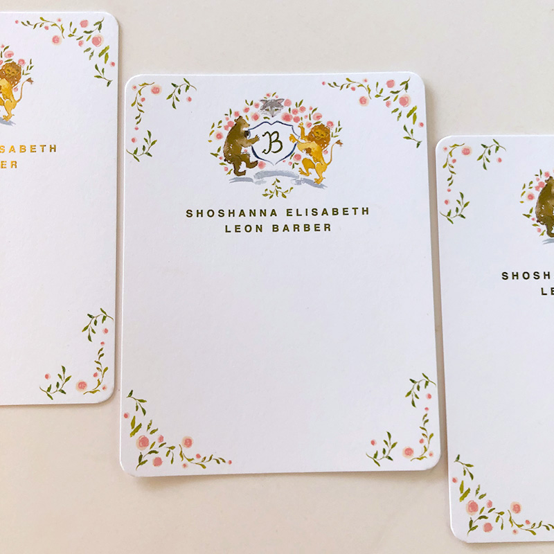 Mother and son custom illustrated notecards